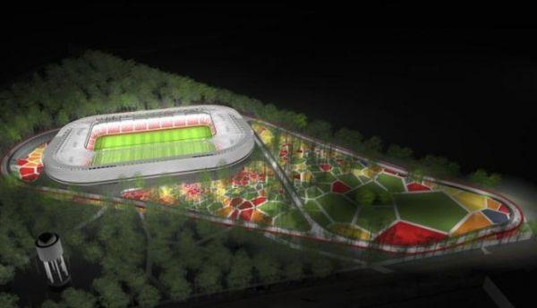 Debreceni Nagyerdei Stadion éjszakai látványképe ... 0fafe1673f